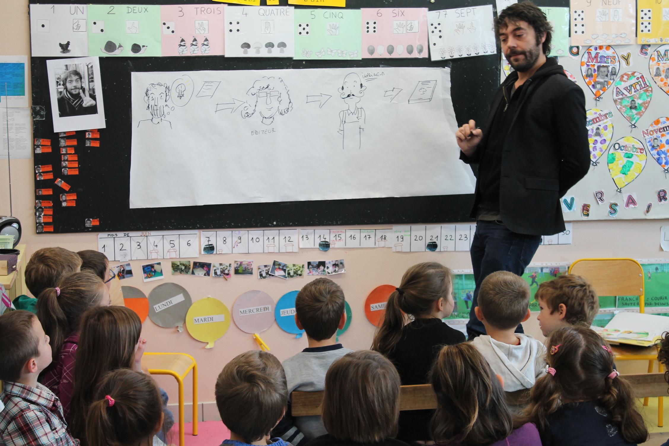 L'auteur Frédéric LAURENT à la rencontre des enfants de maternelle